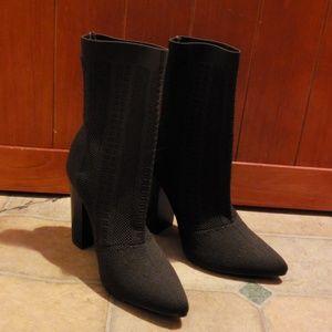 Shoedazzle Sock High Heel Boots